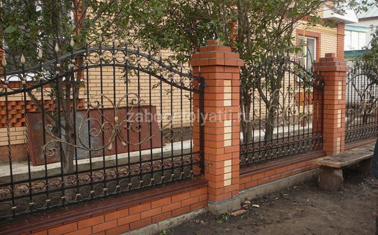 строительство заборов с ковкой в Тольятти