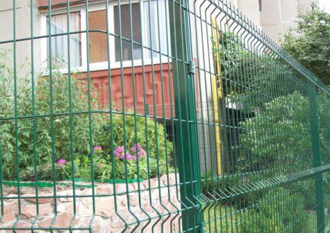 металлический забор 3d