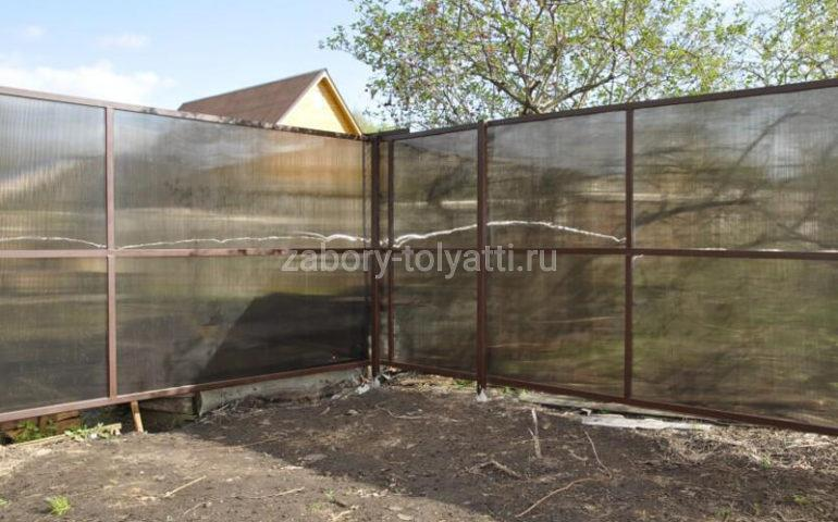 забор из поликарбоната в Тольятти