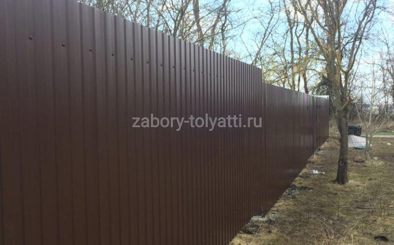 забор из профлиста в Тольятти